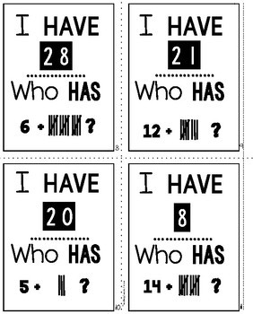 Addition Facts with Tally Marks
