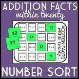 Addition Facts within 20 Number Sort, Matching Game: Includes TEN versions!