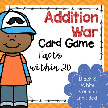 Addition Facts within 20 War Game