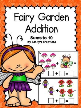 Addition Fairy Garden Sums To 10