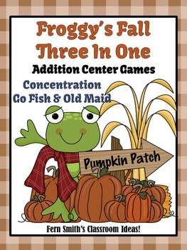 Math Center Games Addition Centers Fall With Froggy