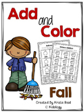 Fall Addition To 10 Worksheets (Cut and Paste)
