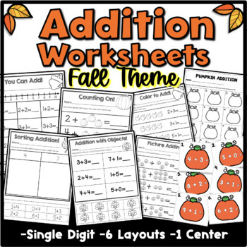 Addition Fall Theme {Kindergarten}