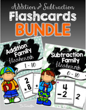 Addition Fact Family Flashcards 1-10 & Subtraction Fact Flashcards 0-10 BUNDLE