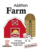 Addition Farm Worksheets