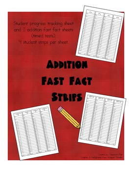 Addition Fast Fact Strips (Timed Tests)