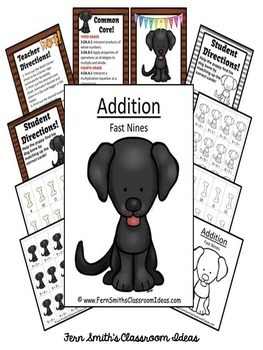 Addition Center Game Add Fast Nines A Quick and Easy to Prep Center Bundle