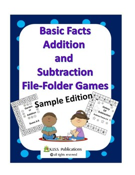 Addition File-Folder Game Sample