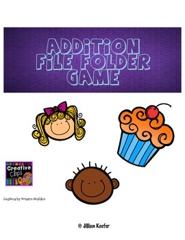 Addition File Folder Matching Game