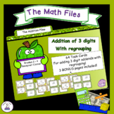 Addition Files - Adding with 3 Digit Addends WITH Regrouping Task Cards