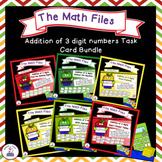 Addition Files - Three Digit Addition Task Cards Bundle