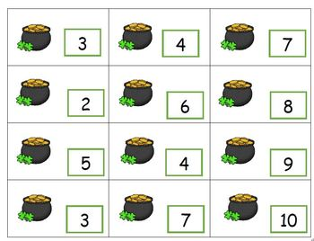 Addition - Find The Missing Number - St Patrick's Day Theme