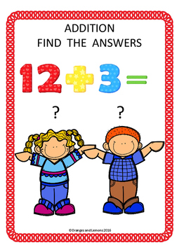 Addition Find the Answers Freebie