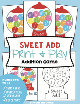 Addition Finger Twist - Addition Print and Play Game for Counting-On