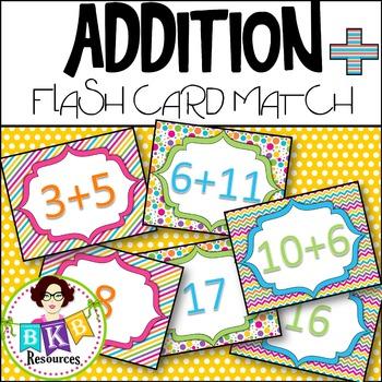 Addition Flash Card Match