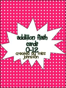 Addition Flash Cards (0-12)