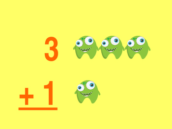 Addition Flash Cards 0-5 Monster Themed