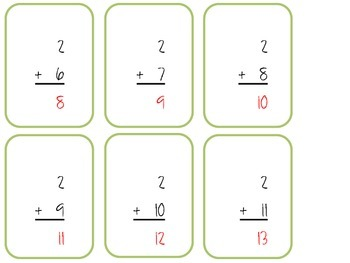 Addition Flash Cards (0's-12's)