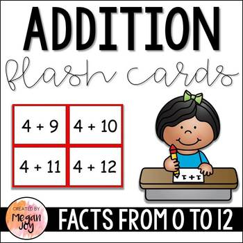 Addition Facts Flash Cards