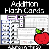 Addition Flash Cards- Add Within 20