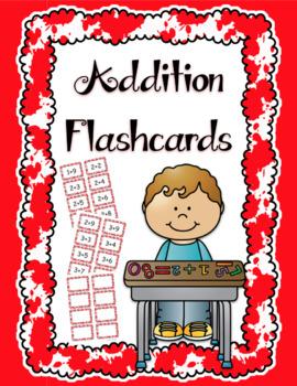 Addition Flash Cards Editable Freebie!