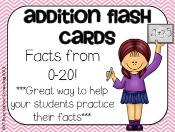 Addition Flash Cards-Facts up to 20
