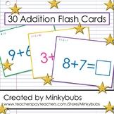 Addition Flash Cards Math Elementary Fun Set 60 problems 30 cards