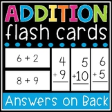 Addition Flash Cards - Math Facts 0-12 Flashcards - Printable