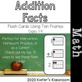 Addition Flash Cards Using Ten Frames