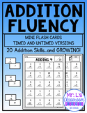 Addition Flash Cards and Fluency Pages