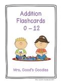 Addition Flash Cards for the Teacher!  Kids theme