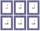 Addition Flash Cards~ sum to 20 ~ Blue Plaid