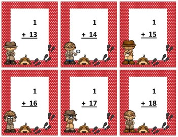 Addition Flash Cards~ sum to 20 ~ Red Polka Dot Detective