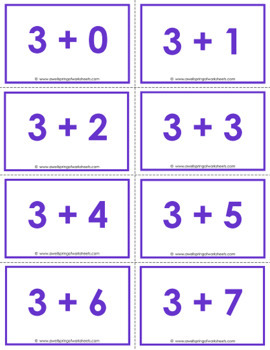 Addition Flash Cards to 10