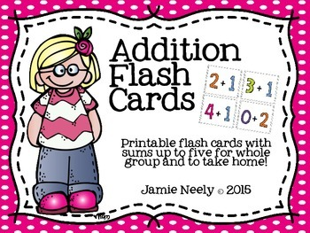 Addition Flash Cards to Five