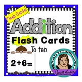 Addition Flash Cards to Ten - In Color and Black and White (66 Cards Each)