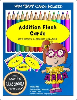 Addition Flash Cards with BAM Cards Included