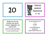 Addition Flash Cards with Missing Addends