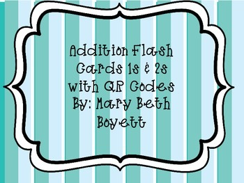 Addition Flash Cards with QR codes