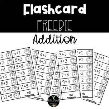 Addition Flashcard Freebie 1-10