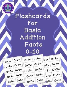 Addition Flashcards 0-10