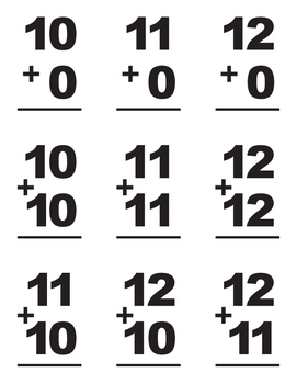 Addition Flashcards #0-12
