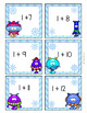 Addition Flashcards 0 - 20 -- Winter Monsters