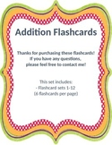 Addition Flashcards 1-12