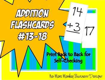 Addition Flashcards #13-18
