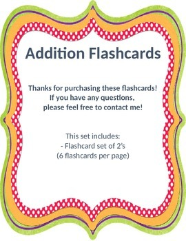 Addition Flashcards 2
