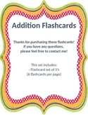 Addition Flashcards 5