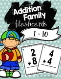 Addition Fact Family Flashcards 1 to 10 |Distance Learning|