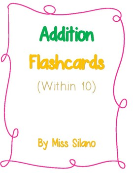 Addition Flashcards (Addition within 10)