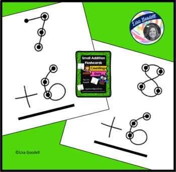 Addition Flashcards - Counting Dots - Small size - Special Ed